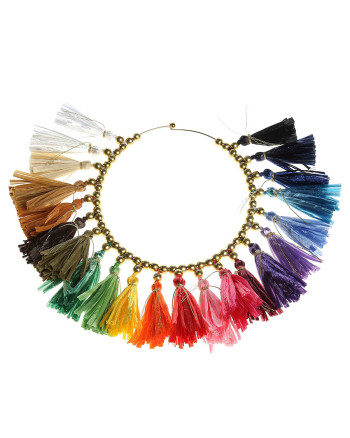 necklace tassel multicolor